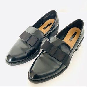 Zara Black Patent Loafers- GUC
